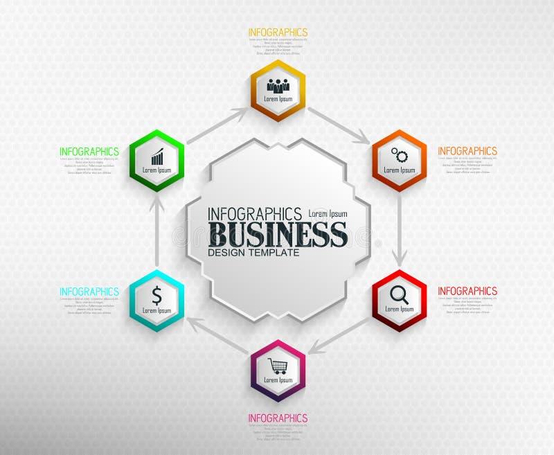 Concepto de la plantilla del negocio de Infographics imagen de archivo