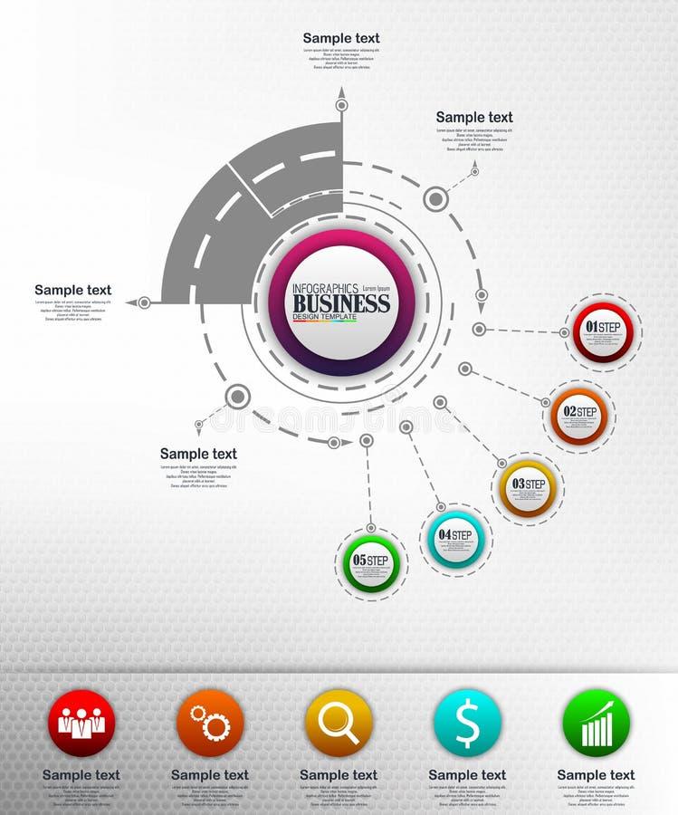 Concepto de la plantilla del negocio de Infographics foto de archivo libre de regalías