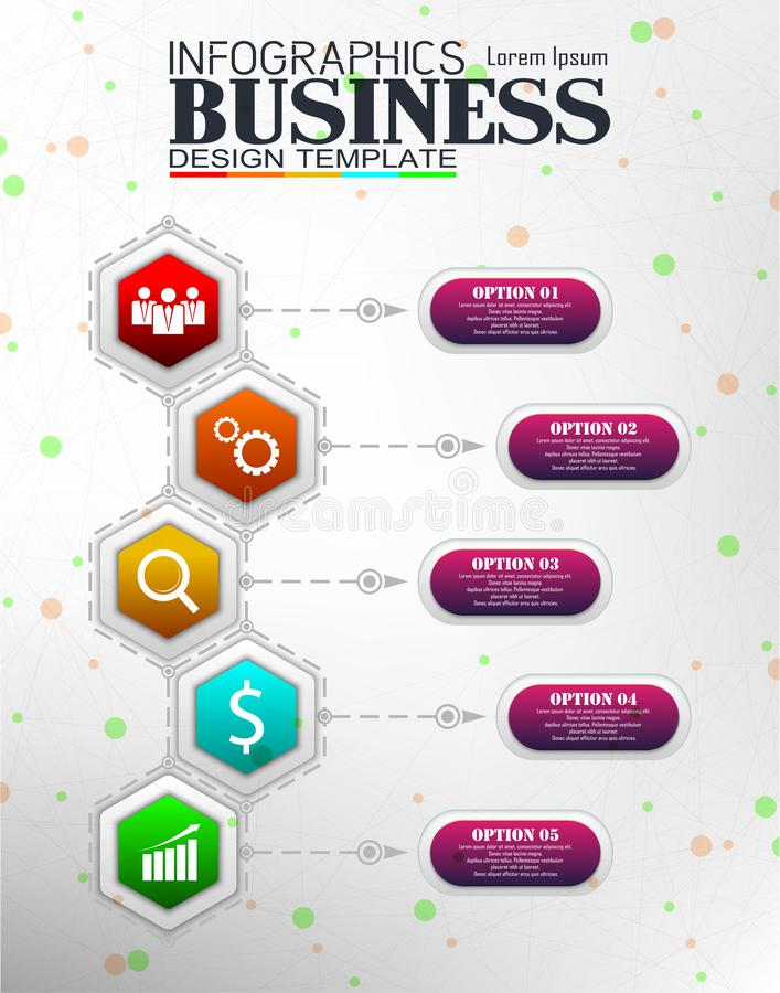 Concepto de la plantilla del negocio de Infographics imagen de archivo libre de regalías