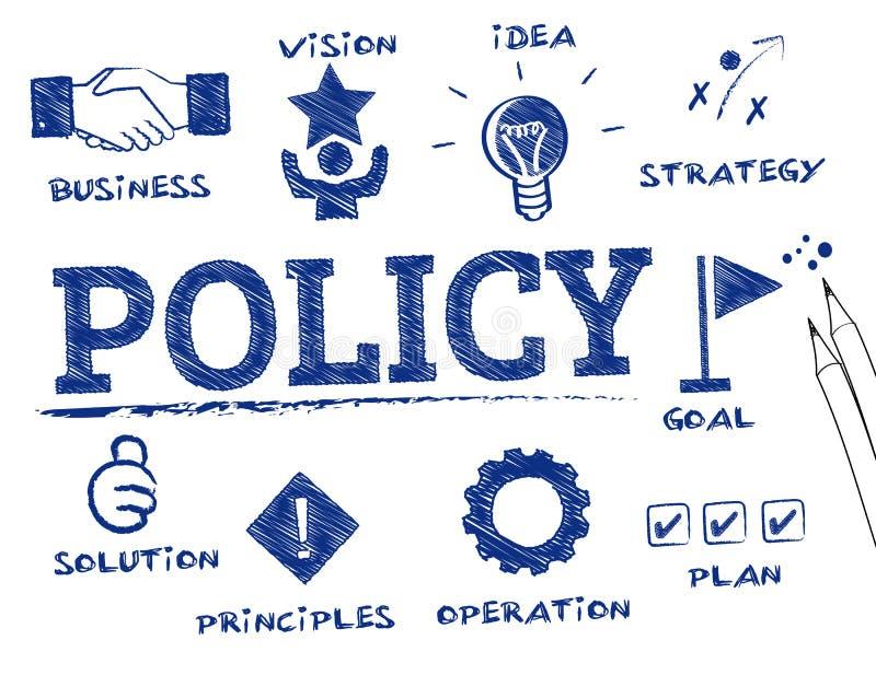 Concepto de la política ilustración del vector