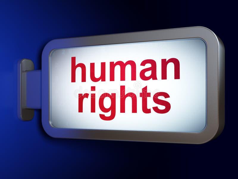 Concepto de la política: Derechos humanos en fondo de la cartelera stock de ilustración