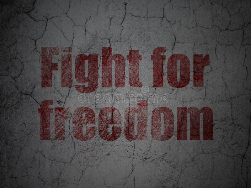 Concepto de la política: Lucha para la libertad en fondo de la pared del grunge stock de ilustración