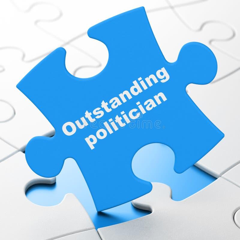 Concepto de la política: Político excepcional en fondo del rompecabezas libre illustration