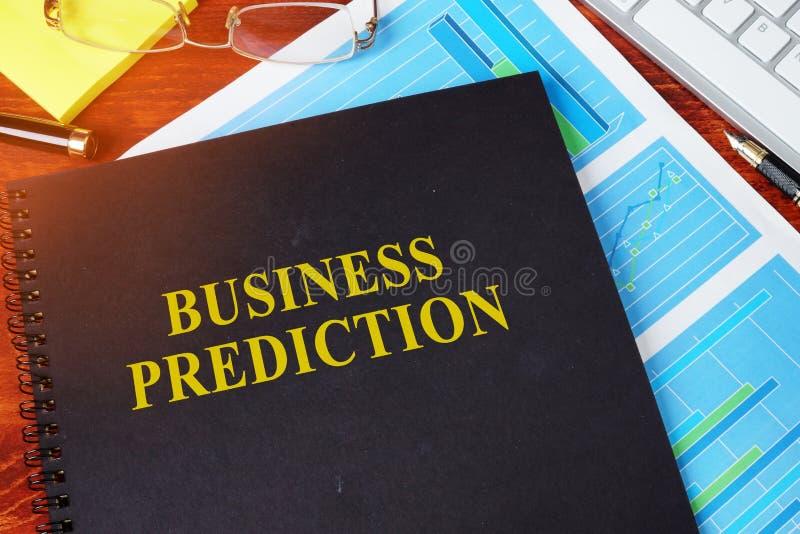 Concepto de la predicción del negocio imagenes de archivo