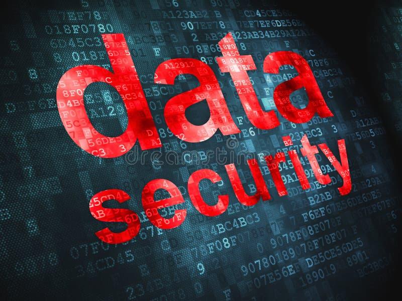 Concepto de la privacidad: Seguridad de datos en digital libre illustration