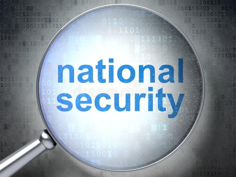 Concepto de la privacidad: Seguridad nacional con óptico stock de ilustración
