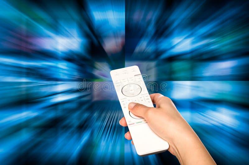 Concepto de la producción de la televisión Los paneles de la película de la TV fotografía de archivo libre de regalías