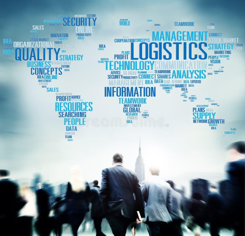 Concepto de la producción del servicio de carga de la gestión de logística imagen de archivo