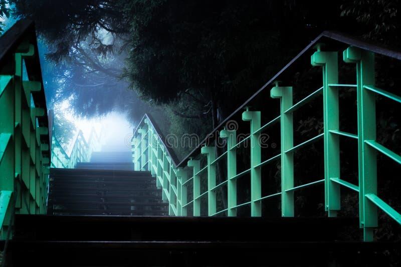 Concepto de la progresión de escalera hacia desconocido fotos de archivo libres de regalías