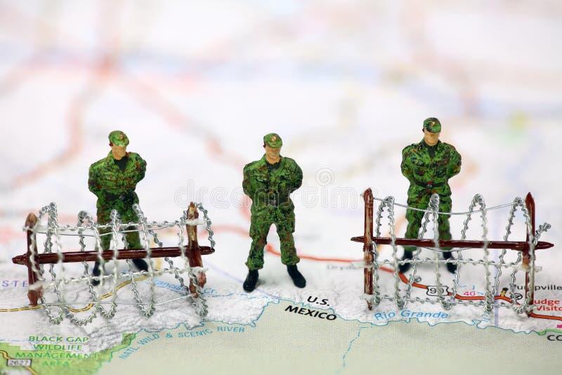 Concepto de la protección de la frontera. fotos de archivo libres de regalías