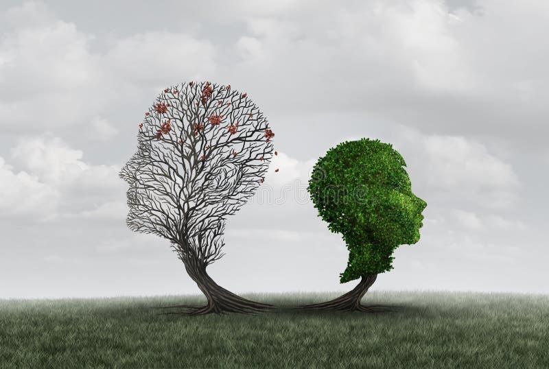 Concepto de la psicología de la pérdida del padre ilustración del vector