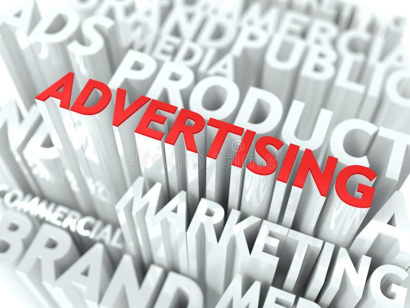 Concepto de la publicidad. libre illustration