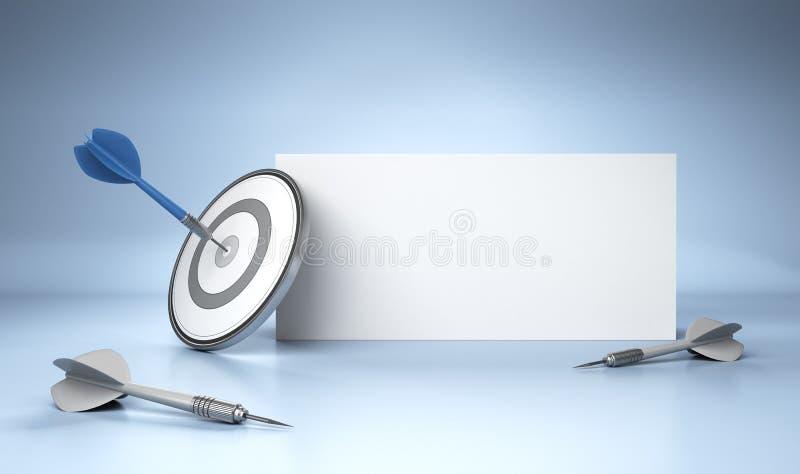 Concepto de la publicidad stock de ilustración