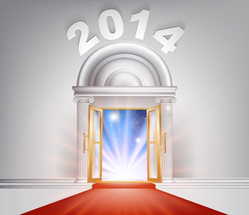 Concepto 2014 de la puerta del Año Nuevo libre illustration