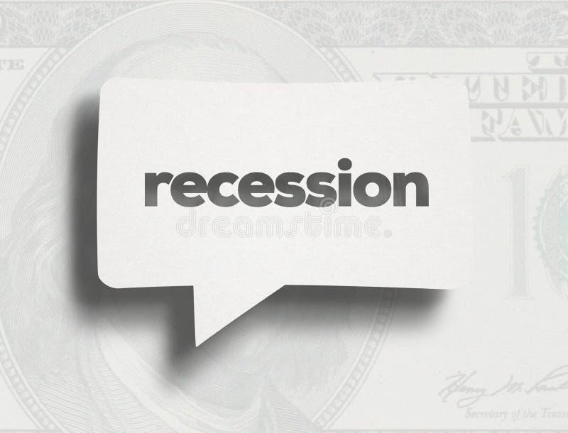 Concepto de la recesi?n libre illustration