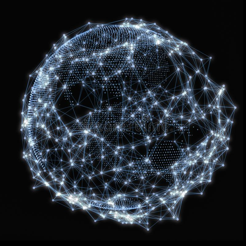 Concepto de la red global libre illustration