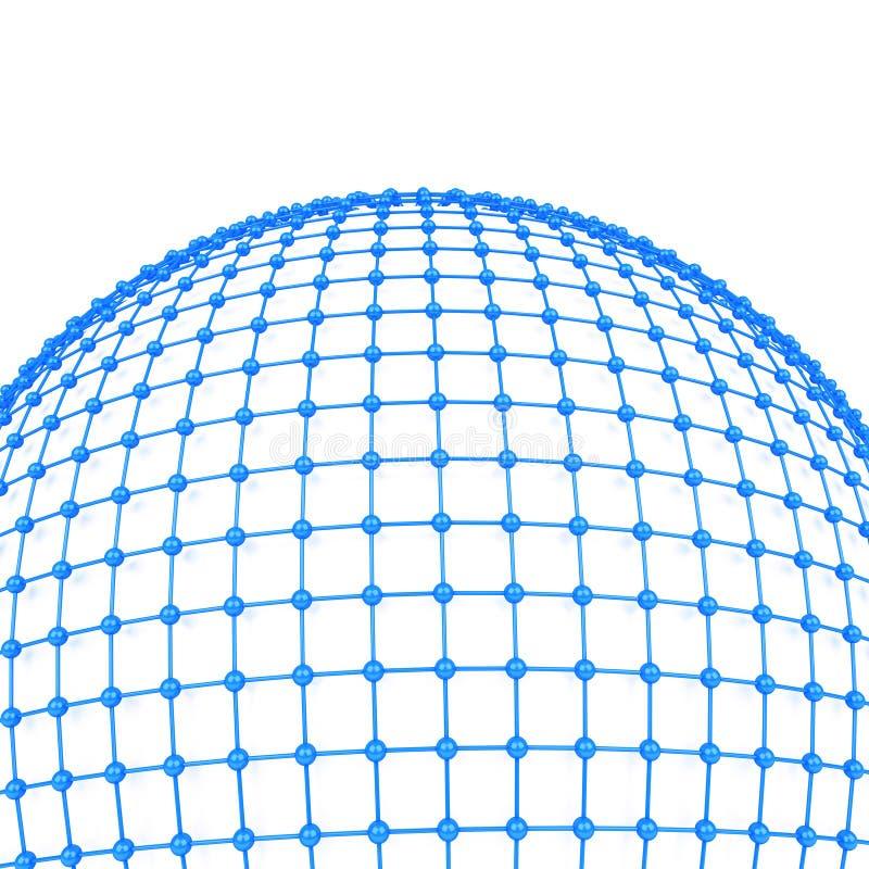 concepto de la red global 3d libre illustration