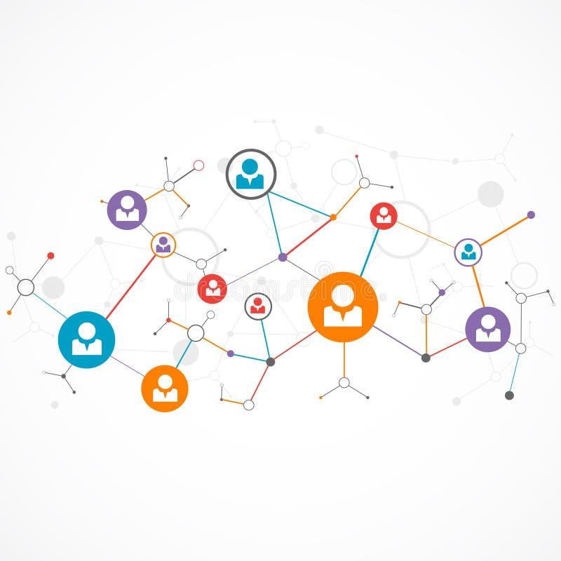 Concepto de la red/medios sociales ilustración del vector
