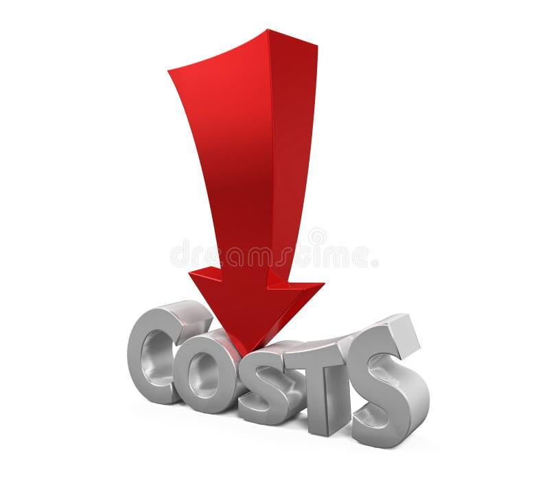 Concepto de la reducción de costes libre illustration