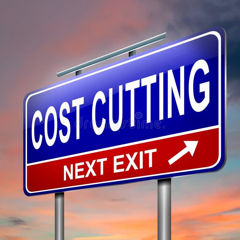 Concepto de la reducción de los costes. stock de ilustración