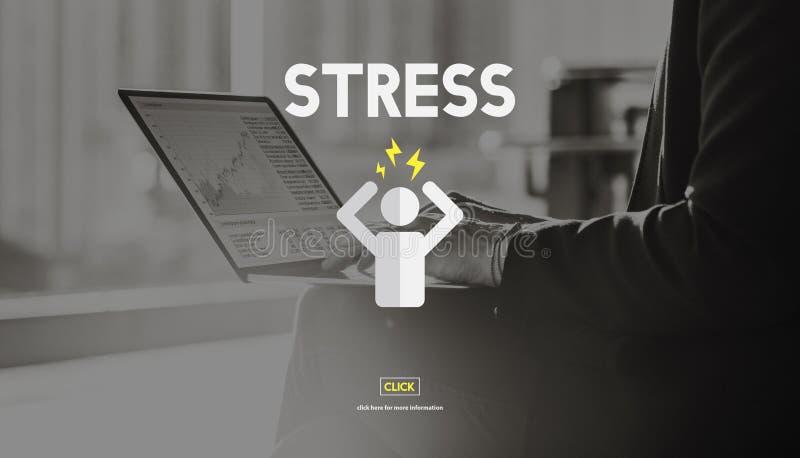 Concepto de la rehabilitación de la tensión de la ansiedad de la tensión de la gestión del estrés fotos de archivo