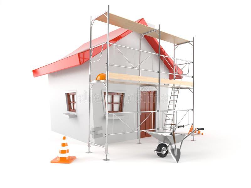Concepto de la renovación de la casa stock de ilustración