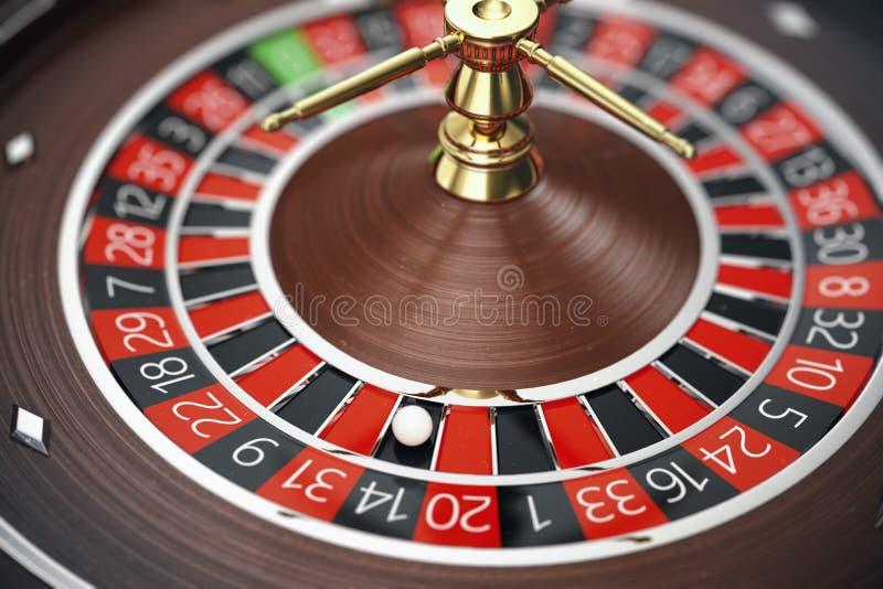 Concepto de la representación de la ruleta 3D del casino de Las Vegas Juego de la ruleta del casino Concepto de juego del casino stock de ilustración