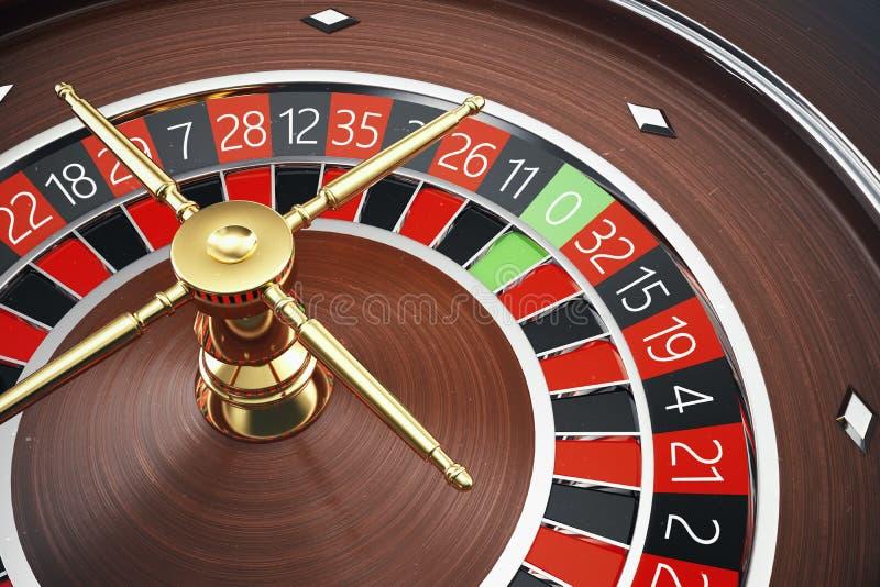 Concepto de la representación de la ruleta 3D del casino de Las Vegas Juego de la ruleta del casino Concepto de juego del casino libre illustration