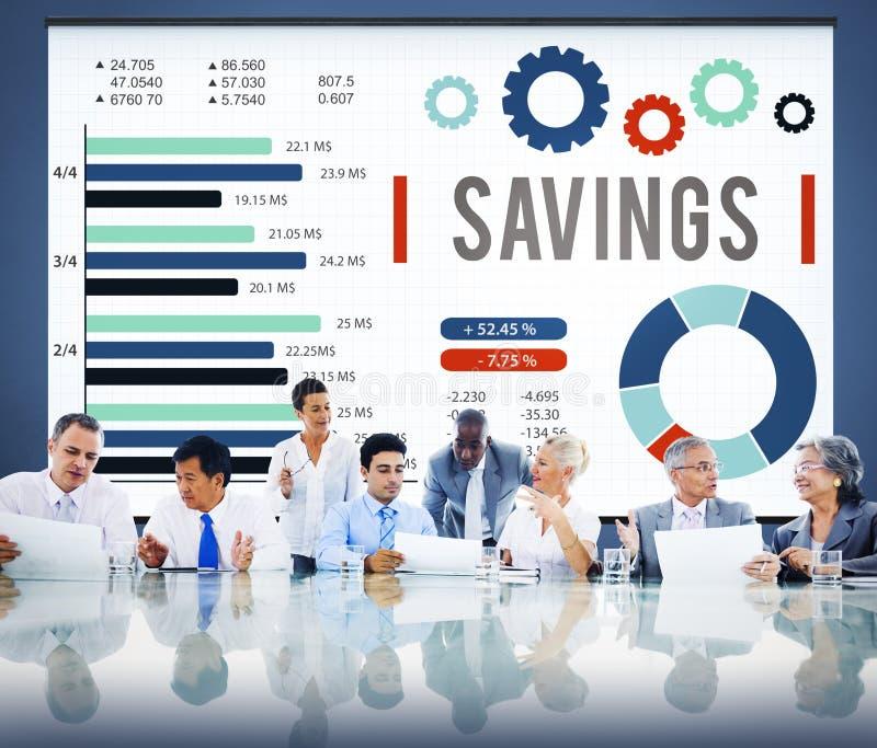 Concepto de la reserva del dinero de BudgetEconomy de las finanzas de los ahorros fotos de archivo
