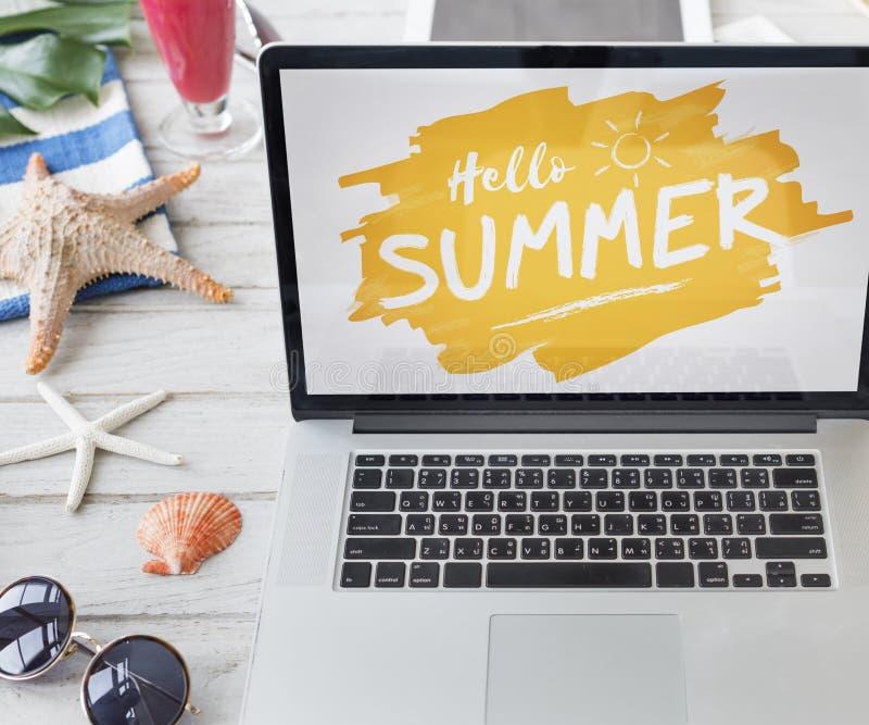 Concepto de la reserva del márketing de descuento de la promoción de venta del verano fotografía de archivo libre de regalías