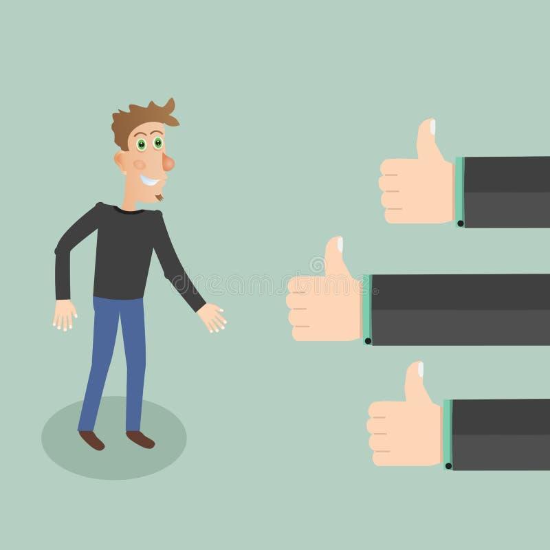 Concepto de la retroalimentación positiva Ilustración del vector libre illustration