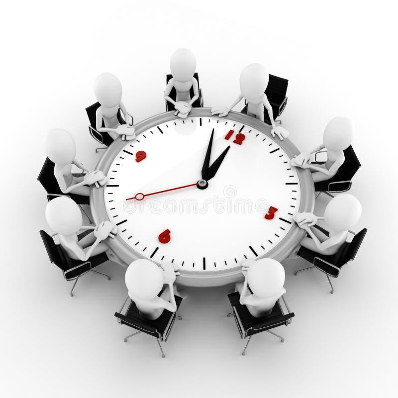 concepto de la reunión de negocios del hombre 3d stock de ilustración