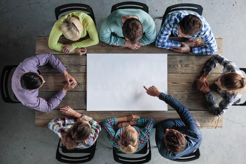Concepto de la reunión del trabajo en equipo del negocio imagen de archivo