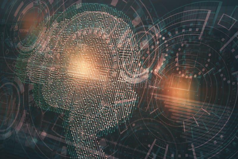 Concepto de la robótica ilustración del vector
