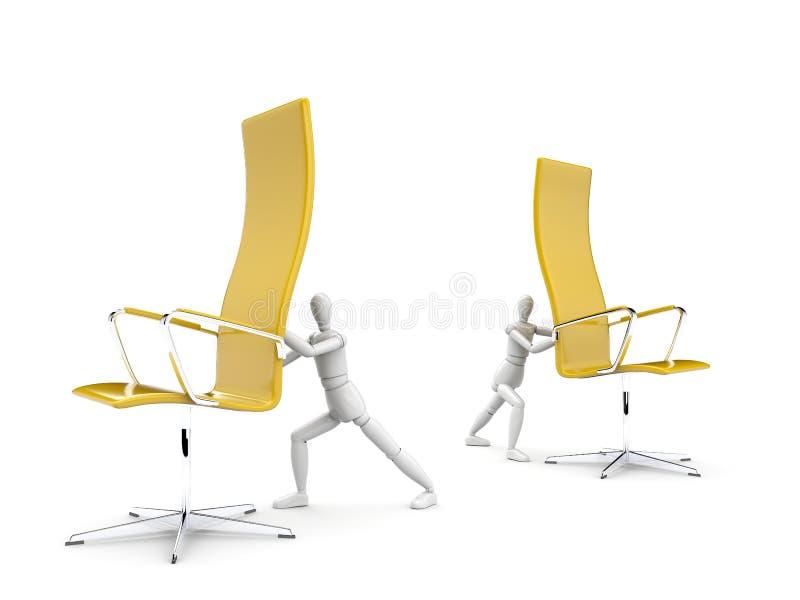 Concepto de la rotación de los muebles ilustración del vector