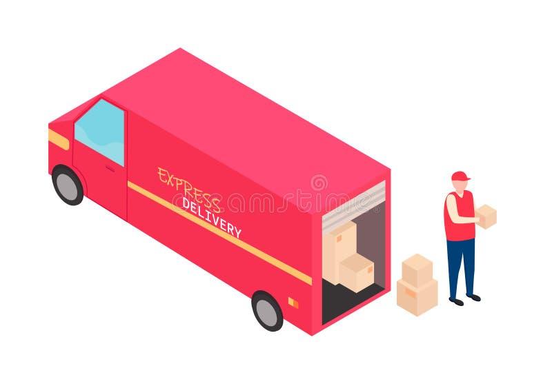 Concepto de la salida stock de ilustración