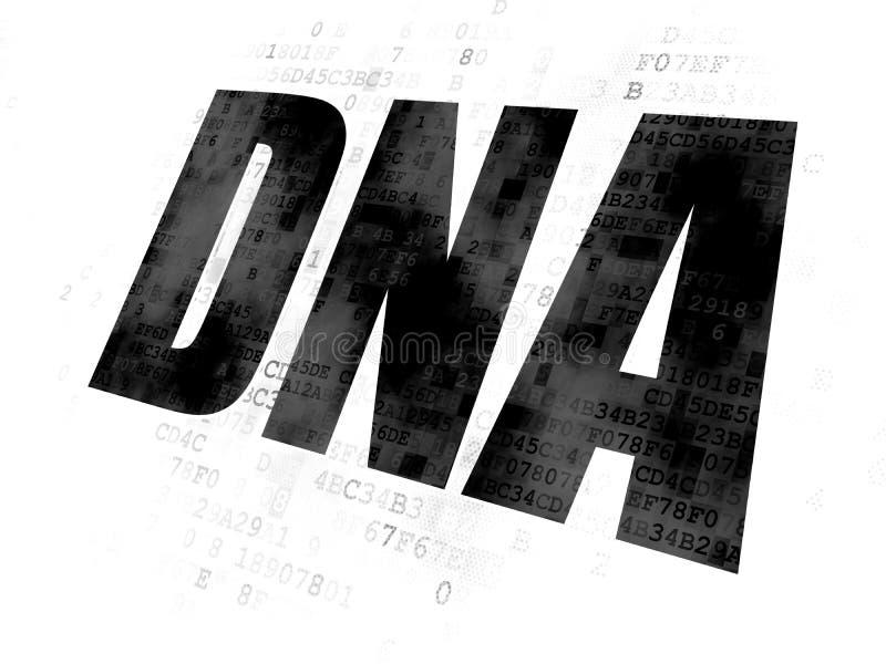 Concepto de la salud: DNA en el fondo de Digitaces libre illustration