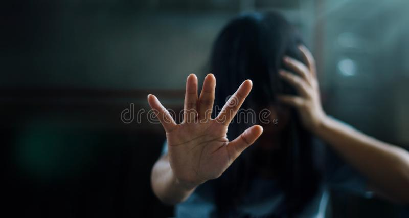 Concepto de la salud mental de PTSD Desorden traumático de la tensión de los posts E fotografía de archivo libre de regalías