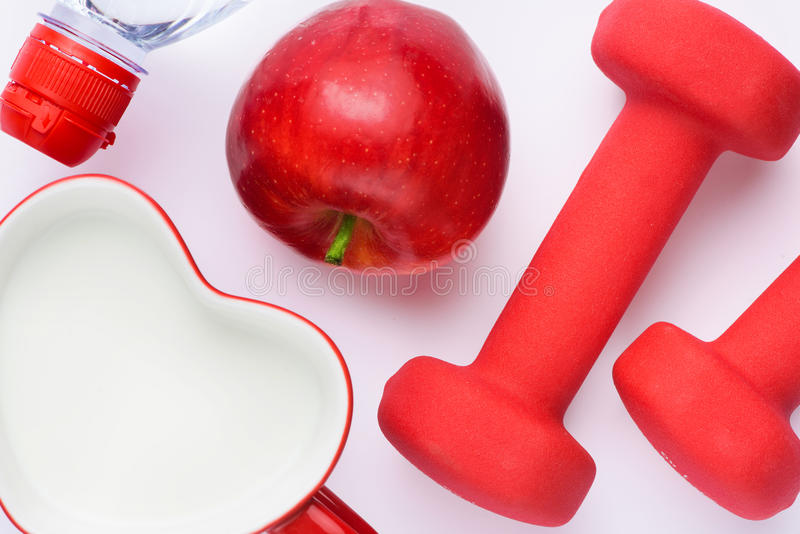 Concepto de la salud y de la dieta foto de archivo libre de regalías
