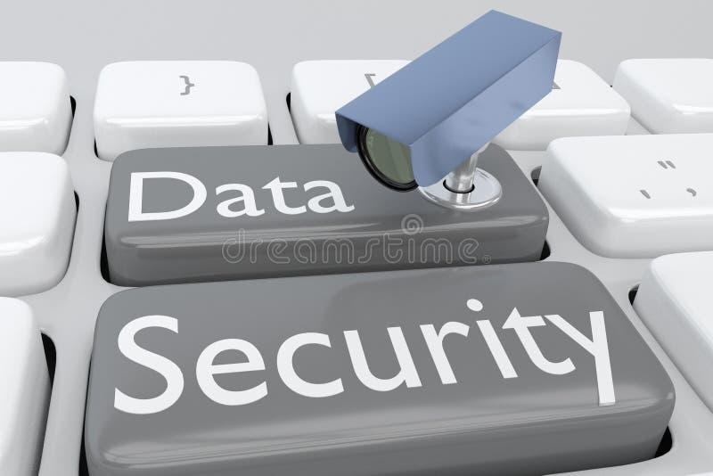 Concepto de la seguridad de datos libre illustration