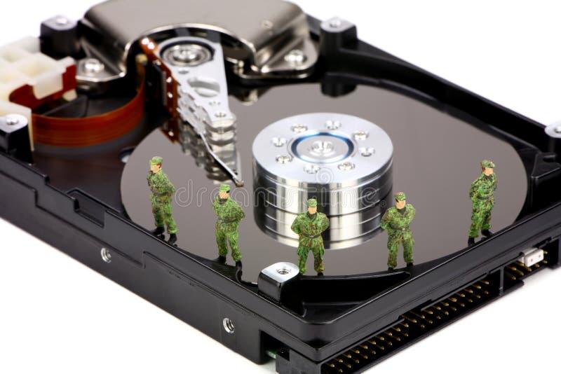 Concepto de la seguridad de datos del ordenador fotografía de archivo libre de regalías