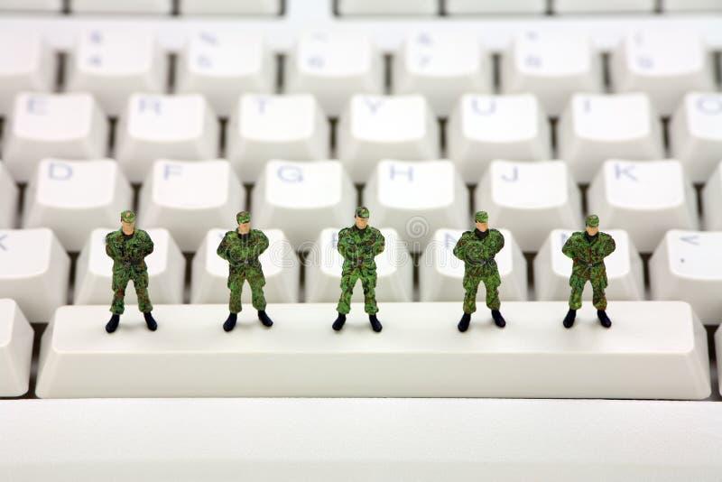 Concepto de la seguridad de datos del ordenador imágenes de archivo libres de regalías