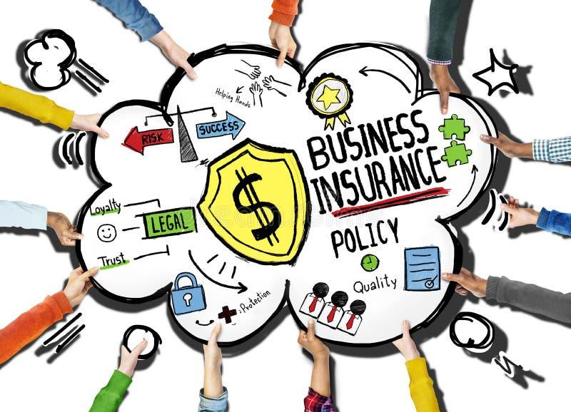 Concepto de la seguridad de la póliza de seguro de negocio ilustración del vector