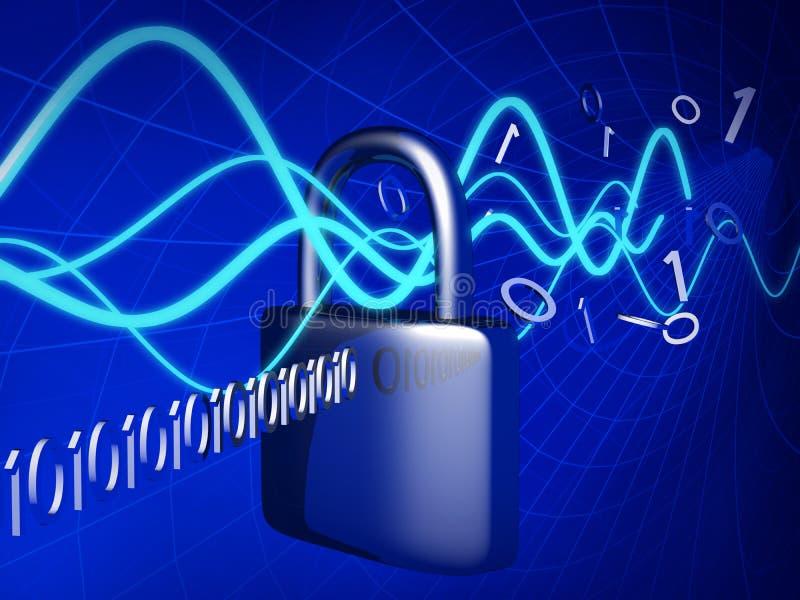 Concepto de la seguridad de la tecnología stock de ilustración