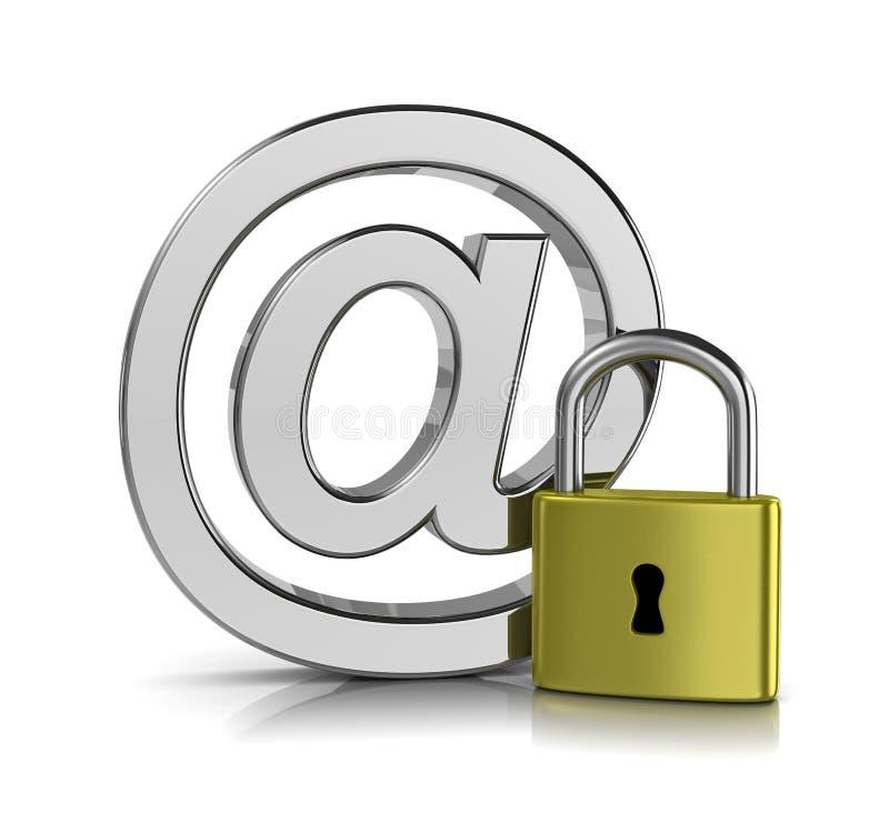Concepto de la seguridad del correo electrónico ilustración del vector