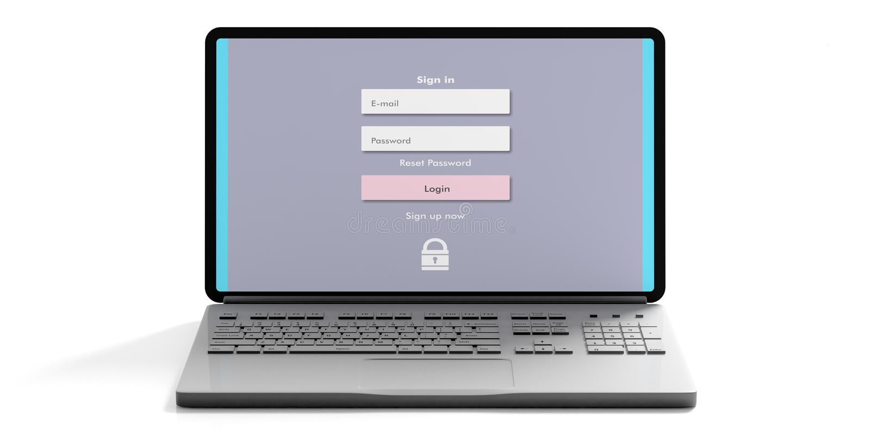 Concepto de la seguridad del Internet stock de ilustración