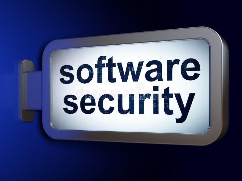 Concepto de la seguridad: Seguridad del software en fondo de la cartelera stock de ilustración