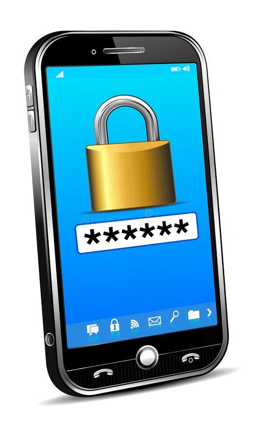 Concepto de la seguridad del teléfono stock de ilustración