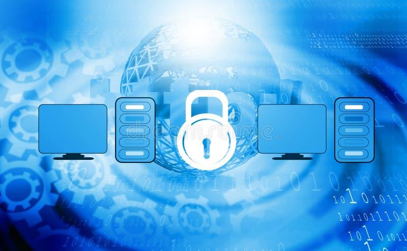 Concepto de la seguridad informática o de la seguridad foto de archivo libre de regalías