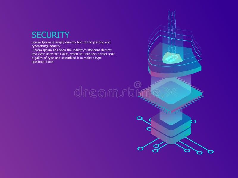 Concepto de la seguridad de la red libre illustration